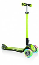 Kolobežka Globber Elite Deluxe Lights Lime Green